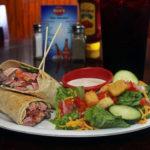 sandwich wrap and side salad