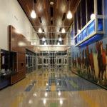 Travis Science Academy empty school entry way