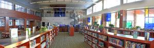 empty school library
