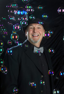 bubble magician portrait