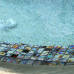 closeup of pool tile