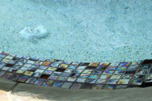 closeup of pool tile