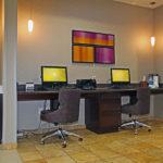 work station inside hotel