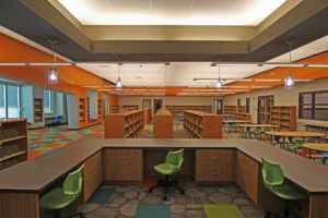 empty elementary school library