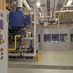 factory interior looking toward control room