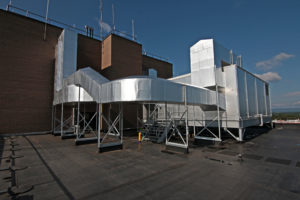 HVAC exterior roof on commercial building