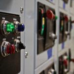 closeup of machine buttons