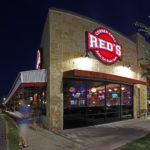 Reds Corner Grill exterior at night