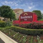 Residence Inn sign and landscaping