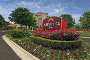 Residence Inn sign and landscaping