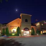 Residence Inn hotel exterior at night