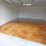 garage with stained concrete floor